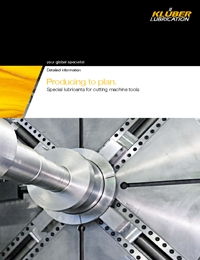 KLUBER Lubricants Cutting Machine Tools Catalogue