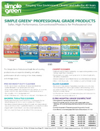 PRO GRADE_Simple Green_PDS 2018