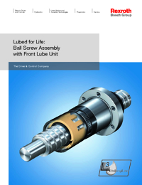 REXROTH Linear Bearings Ball Screw Assembly Front Lube Series Catalogue