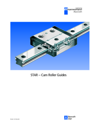REXROTH Linear Bearings Cam Roller Guides STAR Series Catalogue