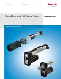 REXROTH Linear Bearings Ball Screw Drive Units Catalogue