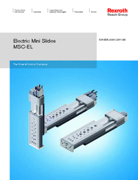 REXROTH Linear Bearings Electric Mini Slide Series Catalogue