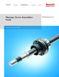 REXROTH Linear Bearings Planetary Screw Assembly Series Catalogue