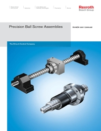 REXROTH Linear Bearings Precission Ball Screw Assembly Series Catalogue