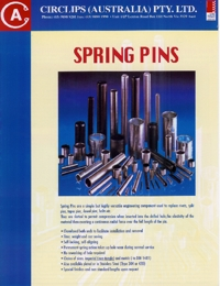 CIRCLIPS AUSTRALAI Roll Pins Brochure