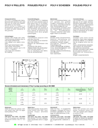 SIT Power Transmission Poly V Pulleys Catalogue