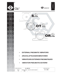 OLI Vibrators External Pneumatic Vibrators Catalogue