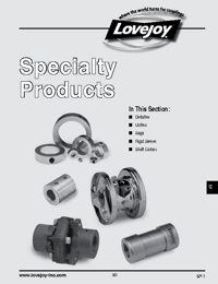 LOVEJOY Couplings Speciality Products Catalogue