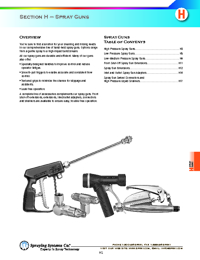 SPRAYING SYSTEMS CO Spraying Equipment Section H Catalogue