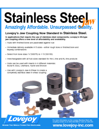 LOVEJOY Couplings Stainless Steel Jaw Series Catalogue
