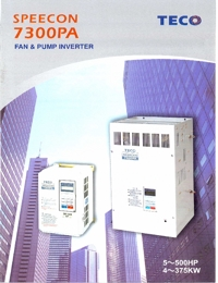 TECO Electric Motors Inverter 7300PA Series Catalogue