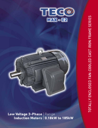 TECO Electric Motors Induction Motors Low Voltage Series Catalogue