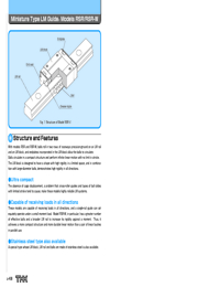 THK Linear Bearings RSR Series Catalogue
