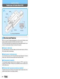 THK Linear Bearings SSR Series Catalogue
