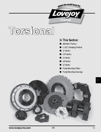 LOVEJOY Couplings Torsional Products Catalogue