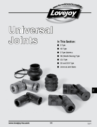LOVEJOY Couplings Universal Joints Catalogue