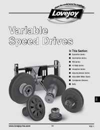 LOVEJOY Couplings Variable Speed Drives Catalogue