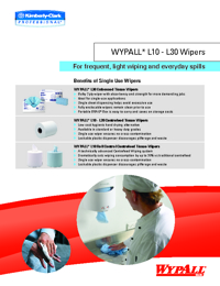WYPALL Cleaning Products Frequent Wipers Brochure