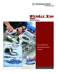 WYPALL Cleaning Products Reinforced Wipers X50 Series Catalogue