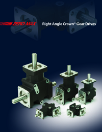 ZERO MAX Power Transmission Right Angle CROWN Series Gear Drive Catalogue